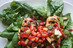 Grilled Chicken Breasts with Strawberry Cucumber Salsa – Kveller