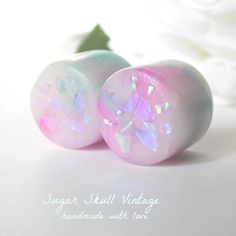 Faux Opal Plugs by SugarSkuIIVintage on Etsy, $18.00