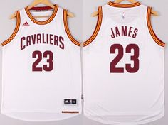 Cleveland Cavaliers #23 LeBron James Revolution 30 Swingman 2014 New White Jersey