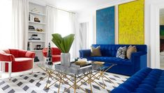 Triad. Sophisticated primary colors. Carlyle Designs - Chelsea Townhouse