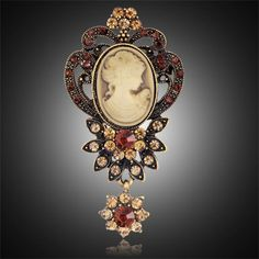 Fashion Antique Gold Silver Vintage Brooch Pins Female Brand Jewelry Queen Cameo Brooches Rhinestone For Women Christmas Gift♦️ SMS - F A S H I O N  http://www.sms.hr/products/fashion-antique-gold-silver-vintage-brooch-pins-female-brand-jewelry-queen-cameo-brooches-rhinestone-for-women-christmas-gift/ US $1.15