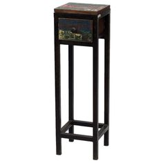 Industrial 1-Drawer  Stand, Brown