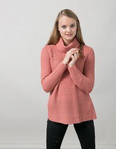 BSK polo neck jumper - Knitwear - Bershka Israel