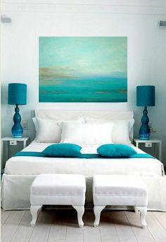 Chambre à coucher aigue-marine