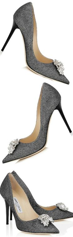 Jimmy Choo ~ Fall Grey Pumps w Crystal Toe Embellishment 2015. Zippertravel.com https://www.pinterest.com/lahana/shoes-zapatos-chaussures-schuhe-鞋-schoenen-oбувь-ज/