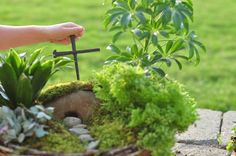How completely wonderful is this idea?! LOVE Ann Voskamp!   This is a Grace Garden to make at Easter time. Fantastic for children to get outside, learn about the resurrection, and understand why Jesus was given to us all.