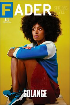 "Get this, 20"" x 30"", Solange poster featuring the cover artwork of The FADER Issue 84. *Please note: order will be processed immediately upon receipt, we will not be able to cancel or change your orde"