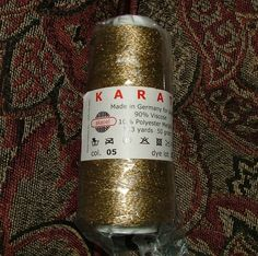 Skacel Collection Inc Karat Made in Germany Color No 05 Lot No 15 Gold Crochet Knit by 3CsTwistedStitchers on Etsy
