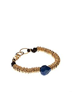 ashiana gold plated ring bracelet with semi precious stone