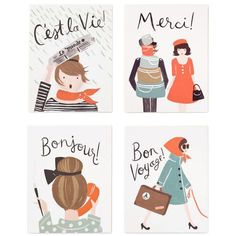 French Note Card Set - Rifle Paper Co.