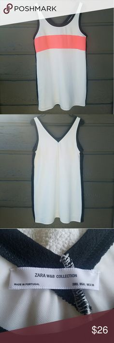 ZARA Lined Polyester Color-block Dress Excellent condition  Feel free to ask me any additional questions. Reasonable offers are considered. No trades, or modeling. Happy Poshing! Zara Dresses