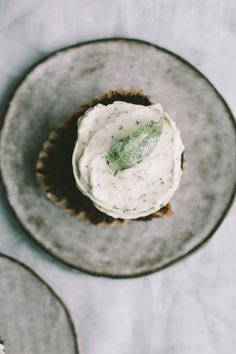 Chocolate Cupcakes with Fresh Mint Buttercream - Not Without Salt