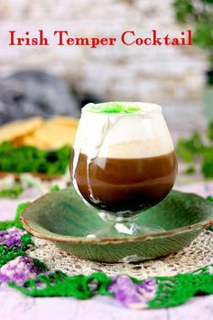 Irish Temper cocktail takes Irish coffee to a new level with the addition of spiced rum. Baileys Cocktails, Coffee Cocktails, Fun Cocktails, Spring Cocktails, Party Drinks, Cocktail Drinks, Fun Drinks, Baileys Irish Cream Coffee, Irish Coffee