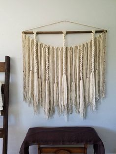 48 Large macramé wall hanging/Woven wall hanging