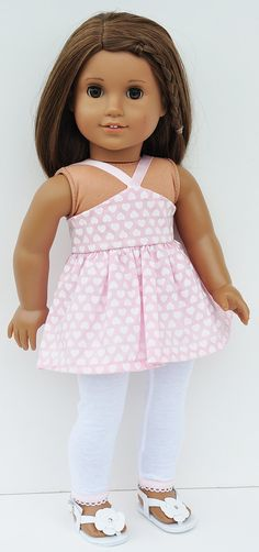 American Girl Clothes  Pink Halter Top and by LoriLizGirlsandDolls, $24.00