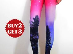 Dusk Forest  Leggings-Womens PantsPrinted Tights by TheMoonBoat