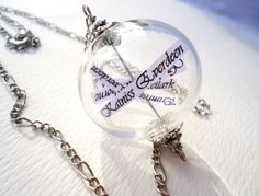 Reaping Ball Necklace Inspired By The Hunger by ViperCoraraDesigns, $20.00