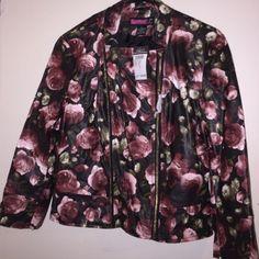 Black Pleater Floral Jacket Brand New Jackets & Coats