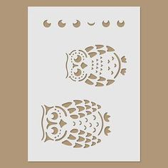 Owls Stencil by StencilDirect on Etsy