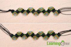Weave the adjustable macramé beaded bracelets