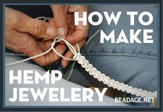 Hemp macrame jewelry is easy to make doesn't require a lot of extra tools. Learn how to make flat and spiral weave, how to add beads, and how to finish your necklace.