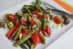 Warmer Spargel - Salat - Vegan einfach