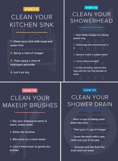 How to clean your kitchen sink, showerhead, makeup brushes and more - Cleaning Hacks Deep Cleaning Tips, House Cleaning Tips, Cleaning Solutions, Spring Cleaning, Cleaning Hacks, Clean Baking Pans, Cleaning Painted Walls, Hard Water Stains, Glass Cooktop