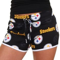 Pittsburgh Steelers Ladies Insider Shorts – Black