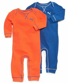 Puma Baby Boys' 2-Pack Rompers