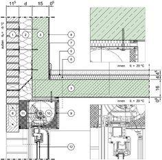 Türzarge detail dwg  D-06-0025 oberer Anschluss WDVS an äußere Zarge im ...
