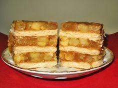Prajitura cu mere,biscuiti si budinca (fara coacere) - imagine 1 mare