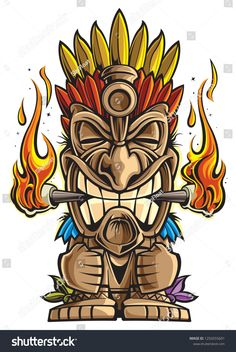 Find Tiki Statue Cartoon stock images in HD and millions of other royalty-free stock photos, illustrations and vectors in the Shutterstock collection. Tiki Tattoo, Totem Tattoo, Tiki Maske, Hawaiian Tiki, Tiki Hawaii, Tiki Art, Tiki Tiki, Tiki Head, Tiki Statues