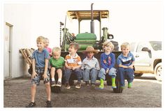 Tractor party photo op!