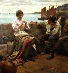 'A CORNISH IDYLL' (1902) | Walter Langley     ✫ღ⊰n