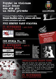 """""""Puoi sempre fare qualcosa"""" Scarpe rosse per dire basta alla violenza 25 novembre: giornata mondiale contro la violenza sulle donne Vigliano  (29 novembreTeatro Erios)"""
