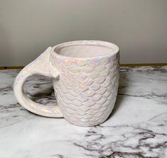 Iridescent Ceramic Mermaid Mug Mermaid Mugs, Iridescent, It Is Finished, Ceramics, Tableware, Etsy, Home Decor, Ceramica, Pottery