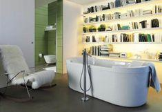 Rincones de lectura en el baño de la #vivienda (VI) #decoración #interiorismo