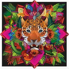 Quetzalcoatl Art, Jaguar, Corel Painter, Fauna, Van Gogh, Ideas Para, Scooby Doo, Holi, Digital Art