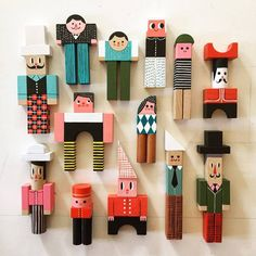 Wooden Crafts Ingela P Arrhenius - I'm a Sweden- based illustrator working with all type of illustration. Diy For Kids, Crafts For Kids, Type Illustration, Kids Wood, Toy Art, Wooden Dolls, Designer Toys, Wooden Crafts, Wood Toys