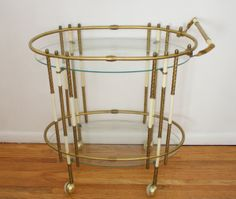 Hollywood regency bar cart $195