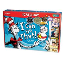 Can you jump up and down with a ball between your elbows? Crawl under the Trick-a-ma-stick? The Cat in the Hat has come to play-can you keep up? Students earn points for the activities they successfully complete. The Cat in the Hat I Can Do That! Game rules can be customized to create an encouraging, positive experience for learners of all abilities. This Deluxe Edition features 12 bonus cards and a sand timer for extra fun!