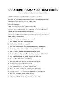 Funny questions to ask humorously start a great conversation. Use these 91 questions, each is handpicked, and designed to be effective. Icebreaker Questions For Adults, Questions For Friends, Fun Questions To Ask, Interesting Questions To Ask, Dating Questions, First Date Questions, Truth Or Dare Questions, Questions To Ask Your Boyfriend, List Of Questions