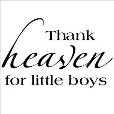 Amazon.com: Thank heaven for little boys Vinyl Lettering Wall Sayings Vinyl Wall Quotes Vinyl Wall Art: Home & Kitchen