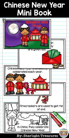 Chinese New Year Mini Book for Early Readers Chinese New Year Activities, New Years Activities, Small Group Activities, Activities For Kids, Book Area, Celebration Around The World, Classroom Resources, Teaching Resources, Preschool Songs