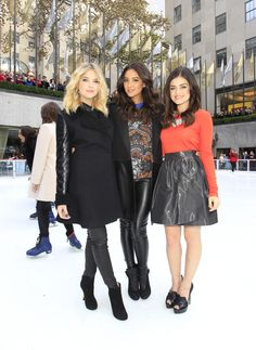 Lucy Hale, Ashley Benson & Shay Mitchell at ABC Family's Winter Wonderland!