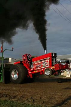 :) red line fever Truck And Tractor Pull, Red Tractor, Tractor Pulling, Old John Deere Tractors, Farmall Tractors, Big Tractors, International Tractors, International Harvester, Logging Equipment
