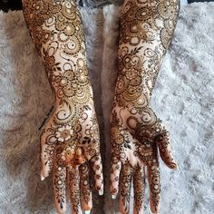 Bridal Mehndi or Henna Designs for Full Hands Modern Mehndi Designs, Mehndi Design Pictures, Wedding Mehndi Designs, Dulhan Mehndi Designs, Arabic Mehndi Designs, Mehndi Designs For Hands, Henna Mehndi, Easy Mehndi, Simple Henna