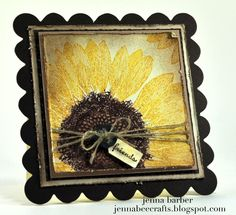stampin' up! sunflower card