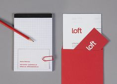 Stationery for Loft Investments | Business card, letterhead, and branded grid notepad