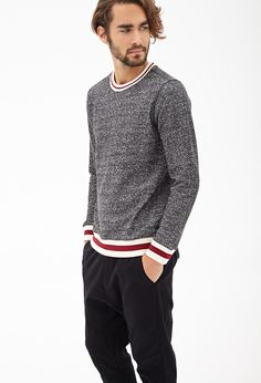 Marled Knit Varsity Sweatshirt // my love would look extremely good in this